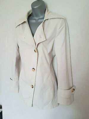 MARKS and SPENCER M&S Per Una Cream Beige Collar Asymmetric Coat Jacket 12