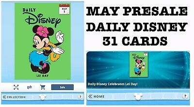 Presale: Daily Disney Month Of May-31 Cards Sent Daily-Topps Disney Collect