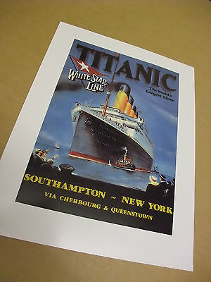 """RMS Titanic Iconic Advert Image from 1912 Art print, 100th Anniversary 12"""" x 16,"""