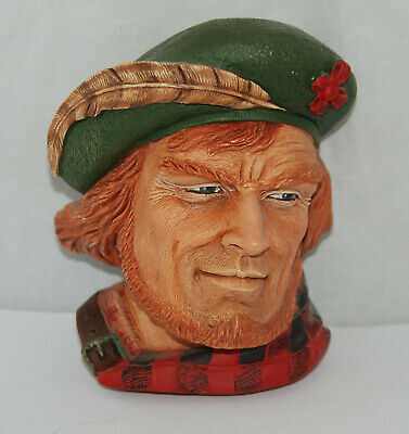 Bossons' Rob Roy Chalkware Character Heads, Made in England 1995