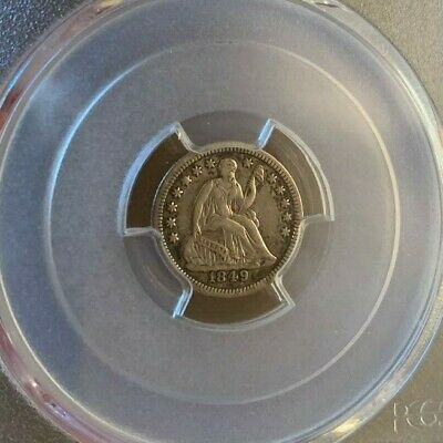 1849/6 Overdate ~ Seated Liberty H10c ~ PCGS XF-40 ~ Tough Variety this nice!!