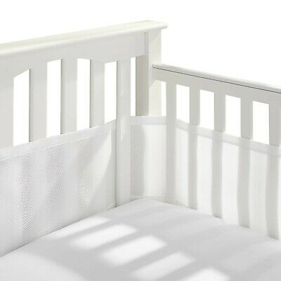 Crib Liner For Baby Breathable Mesh Classic Mini Non Padded High Quality White