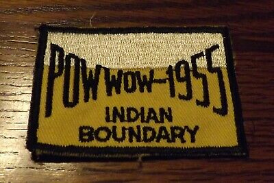 Boy Scout Patch 1955 Pow Wow Indian Boundary