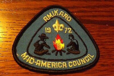 Boy Scout Patch 1972 Mid America Council Amikaro