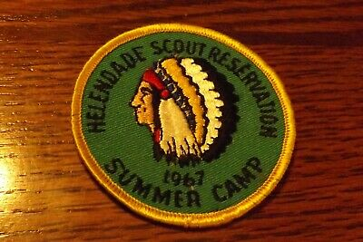 Boy Scout Patch 1967 Helendade Scout Reservation Summer Camp