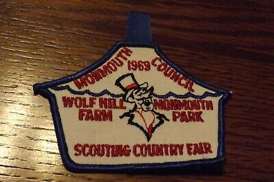 Boy Scout Patch 1969 Monmouth Council Wolf Hill Farm