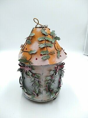 Metal Candle Holder-Kathy Hatch Collection - Frosty Windows Leaves Sculpture