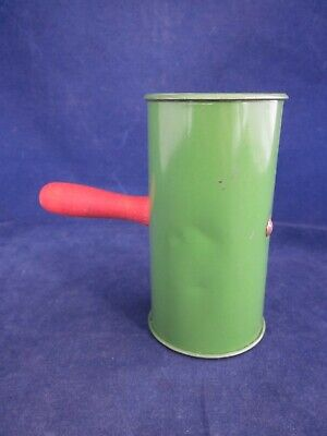 New Year's Eve Party Tin Cylinder Rattle Noisemaker VINTAGE 1940 Green