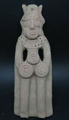 Ancient Syro-Hittite Terracotta Fertility Idol Figure