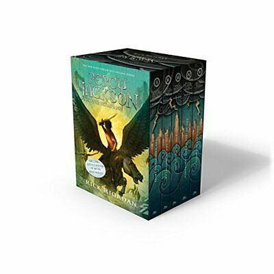 NEW Percy Jackson and the Olympians Box Set by Rick Riordan  -- Books 1-5