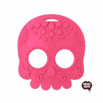 Certified Silicone Sugar Skull Baby Teether BPA Free Teething Chew Sensory Toy