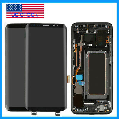For Samsung Galaxy S8 | S8 Plus LCD Touch Screen Digitizer Replacement Frame US