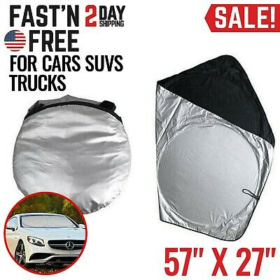Car Windshield Sun Shade Protector Visor Auto Window Shield Blinds Front