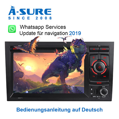 "7"" Autoradio DVD GPS Multimedia MP3 USB DAB+ für Audi A4 S4 RS4 B6 B7 8E 8H"