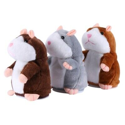 US Repeats What You Say Gift Toy Talking Hamster Mouse Plush Doll for Kids Adult