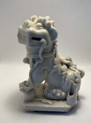 18th Century Chinese Blanc De Chine Dog Of Fo