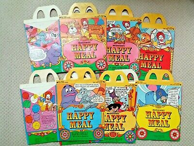 McDonald's 1979 Circus Wagon Complete Happy Meal Boxes