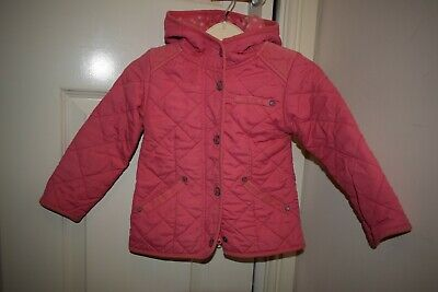 Next Girls Pink Quilted Jacket Size 2-3 Years