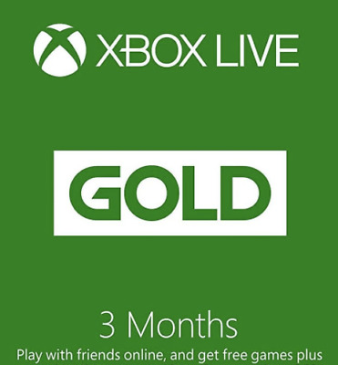 Xbox GIFT CARD Live Gold 3 month