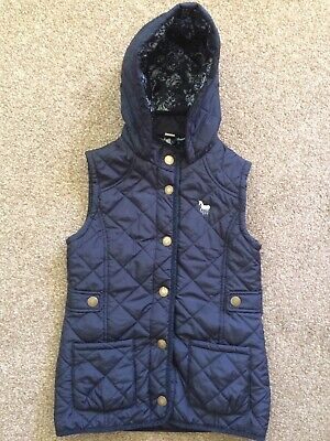 Girls Navy Blue Hooded Gillet UK Size 9-10 Years 134-140cm by Tu