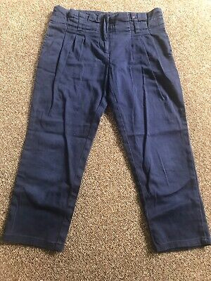 Jasper Conran Girls Navy Cotton 3/4 Trousers Age 6