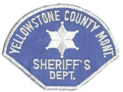 Yellowstone County MONTANA MT Police patch OLD