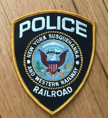 ***FREE SHIPPING*** New York Susquehanna Western Railway Railroad Police Patch