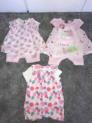 Marks & Spencer, George Baby Girls Age 0-3 Months Various Summer Pink Outfits