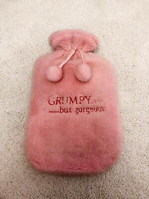 La Senza Grumpy But Gorgeous Pink Hot Water Bottle