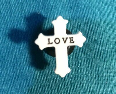 Cute Christian Religious Word LOVE Cross Croc Hole Accessorie Shoe Charm