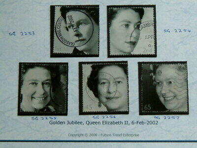 2002  Golden Jubilee - SG2253 - 2257 - Used Good Quality