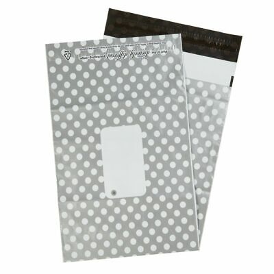 Silver Polka Dots Mailing Bags 10 x 14″ – 250 x 350mm