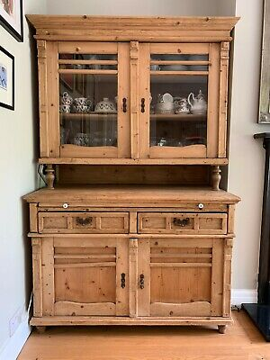 Beautiful Large Antique Style Pine Dresser with Pull-out Serving Shelf