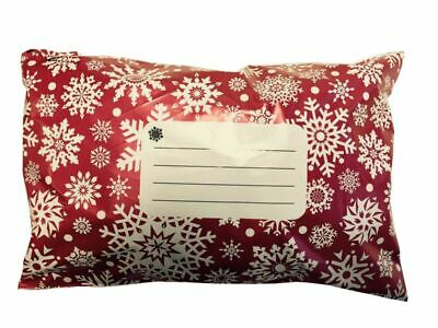"""Red Snowflake Bags 10"""" x 14″ – 250mm x 350mm"""