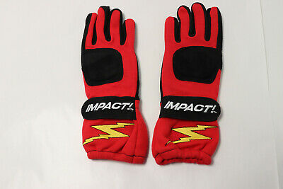 New Impact 31000307 G1 Racing Gloves, Small, Red
