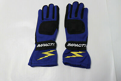 New Impact 31000306 G1 Racing Gloves, Small, Blue