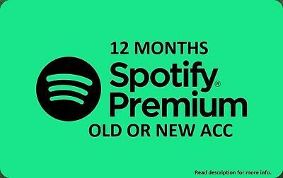 Spotify Premium 12 MONTHS /FAST DELIVERY / DIGITAL DELIVERY