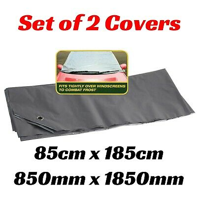 2x Car Windscreen Cover Protection Frost or Sun Window Protect Cool Suction Pads