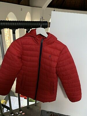 Girls Joules Red Lightweight Hooded Quilted Padded Coat Jacket Kids Age 12 Yrs