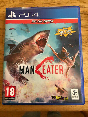 PS4 game Man Eater Day one edition. Used once - in excellent condition.