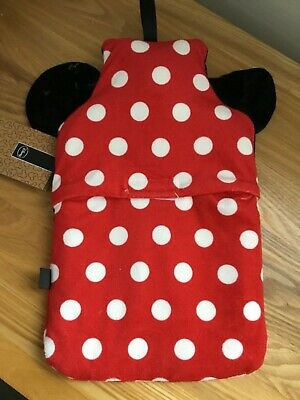 Disney Hot Water Bottle and  Minnie Mouse Cover NEW WITH TAGS