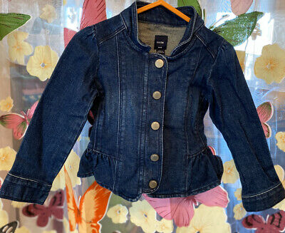 Gap Girls Blue Denim Jacket Very Girly, Press Stud Fastening Age 2 VGC