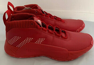 Adidas Dame 5 Mens Size 13 5 Basketball Shoes Red Ee5433 Damian Lillard Sneakers 69 00 Picclick