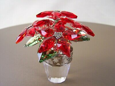 Beautiful Swarovski Large Poinsettia!  MINT Condition! #1