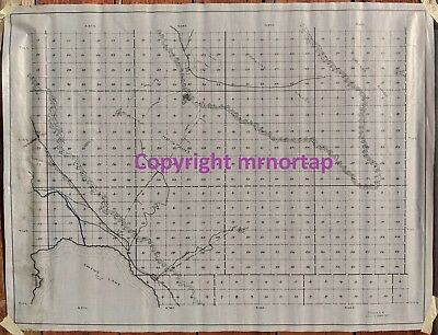 c.1914 Owens Lake Cerro Gordo Mines Inyo Mountains SP Railroad Tramway Road Map