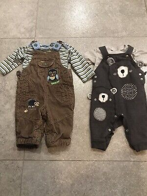 Baby Boy Dungarees Size 3-6 Months Marks And Spencer George Tesco
