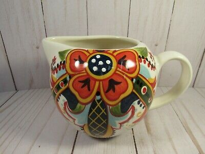 """Pitcher, Hand Painted, Table Tops, Lifestyles, """"Amelia"""" 4"""" Tall, Stunning"""