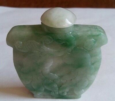 China green jadeite jade lucid ganoderma, rat snuff bottle  鼻