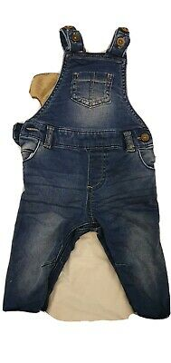 Baby Boys Denim Dungarees 3-6 Months