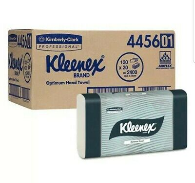 KLEENEX 4456 Optimum Hand Towel 2400 Towels (20 packs) 30.5 X 24cm